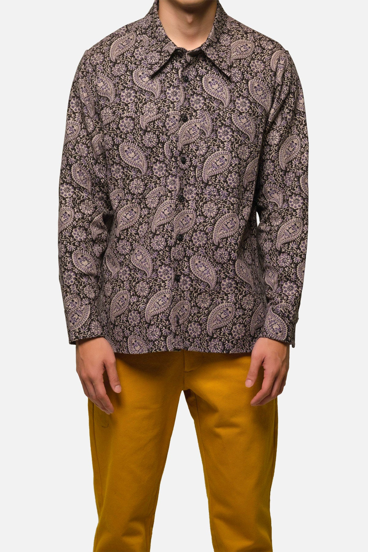 BROADWAY SHIRT IN PURPLE PAISLEY - Fortune Goods