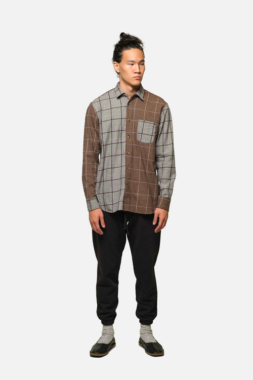 1905 IN COFFEE-BLACK PLAID MIX - Fortune Goods