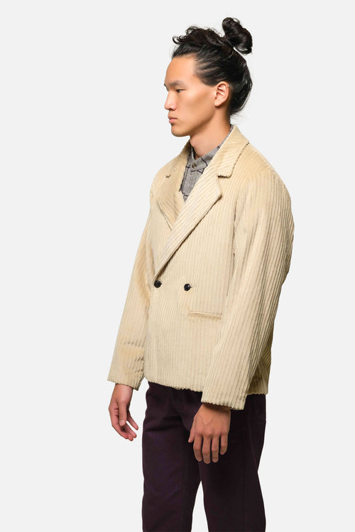 KERRYTOWN JACKET IN STONE Hi-Lo CORDUROY - Fortune Goods
