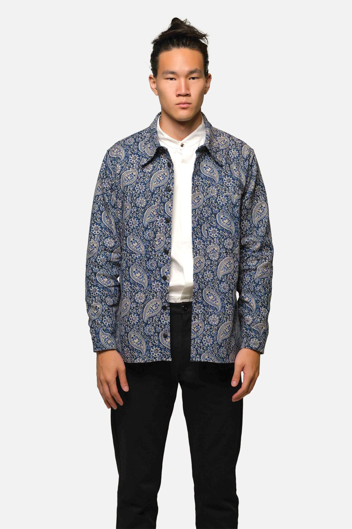 BROADWAY SHIRT IN BLUE PAISLEY - Fortune Goods