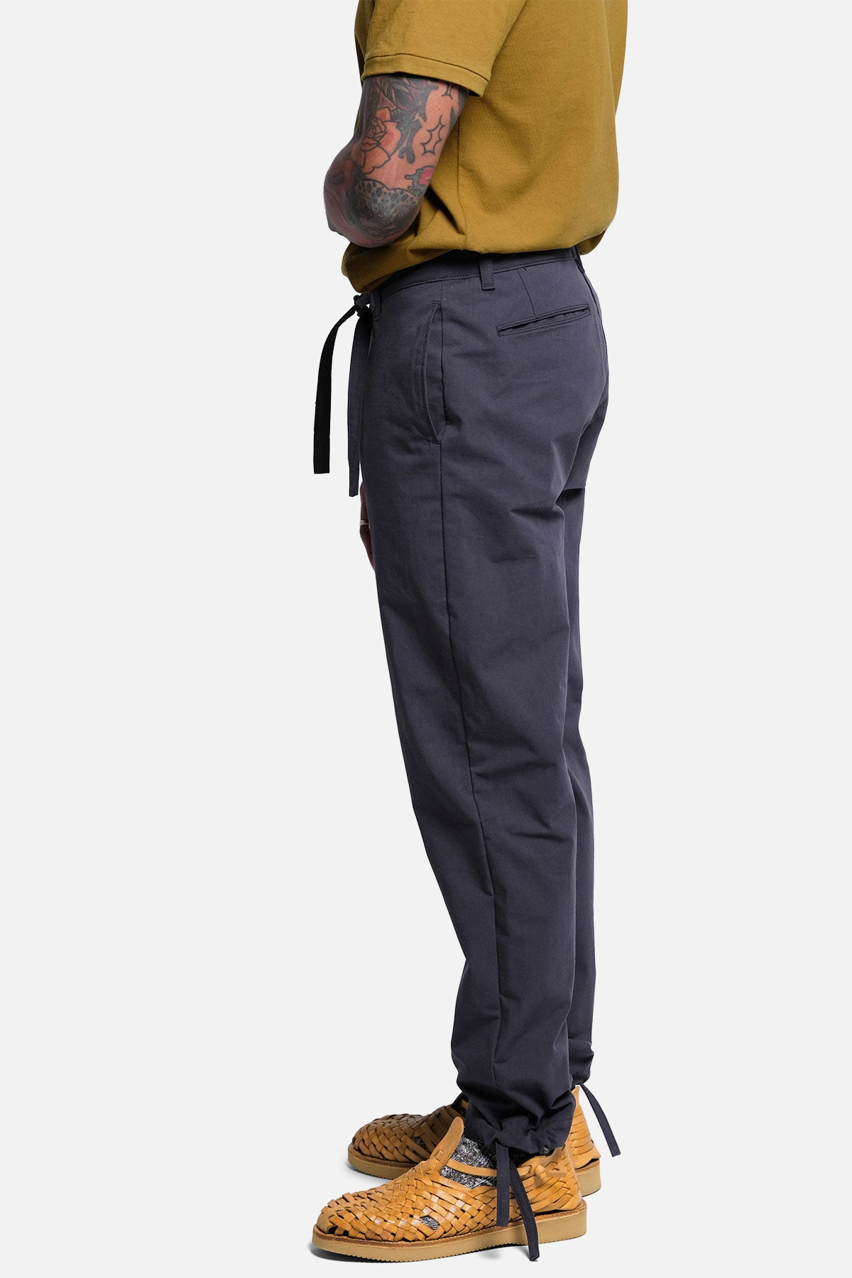 DRAWSTRING PANT IN NAVY RIPSTOP - Fortune Goods