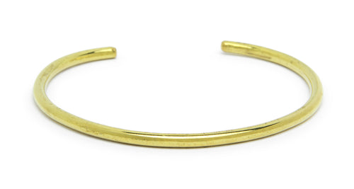 CUFF BRACELET IN BRASS (THIN) - Fortune Goods