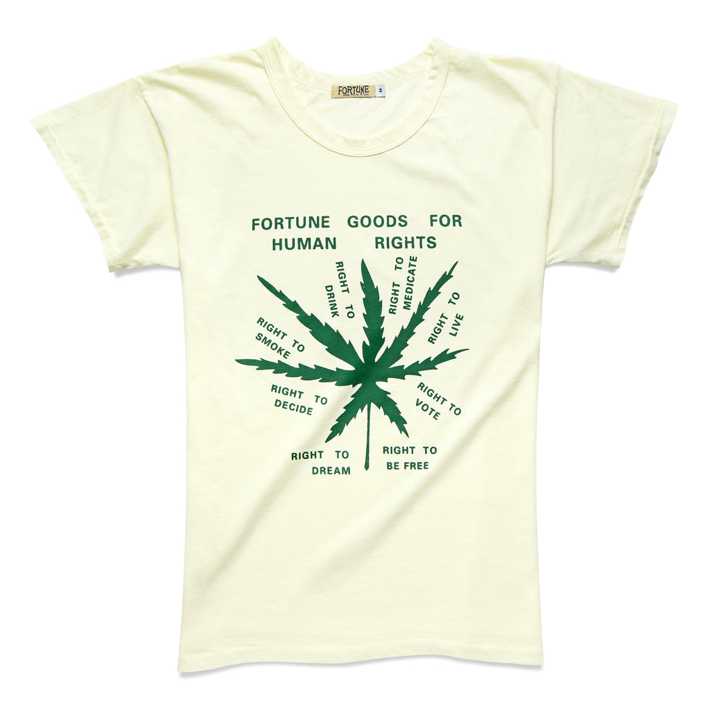 HUMAN RIGHTS TEE PEARL/GREEN - Fortune Goods