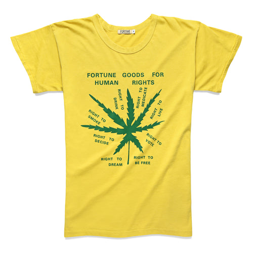 HUMAN RIGHTS TEE MUSTARD/GREEN - Fortune Goods