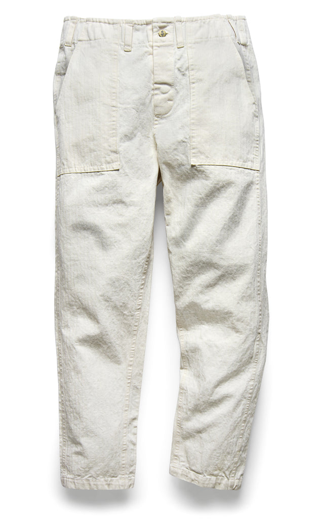 107 PANT IN PEARL HERRINGBONE TWILL - Fortune Goods