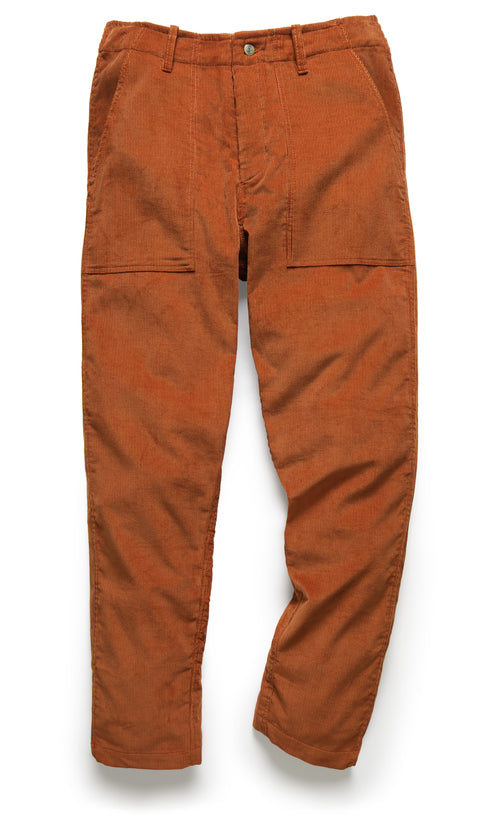 107 PANT IN RUST CORDUROY - Fortune Goods