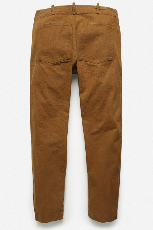 107 PANT IN TOBACCO HERRINGBONE TWILL - Fortune Goods