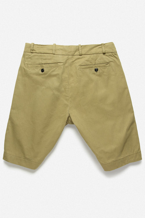 PLEATED SHORT IN GOLD TWILL - Fortune Goods