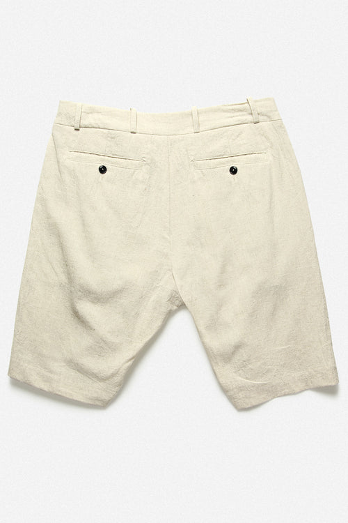 PLEATED SHORT IN NATURAL - Fortune Goods