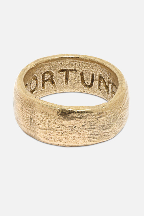 FORTUNE BAND RING IN GOLD BRONZE - Fortune Goods