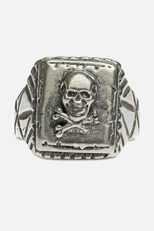 SKULL RING IN WHITE BRONZE - Fortune Goods