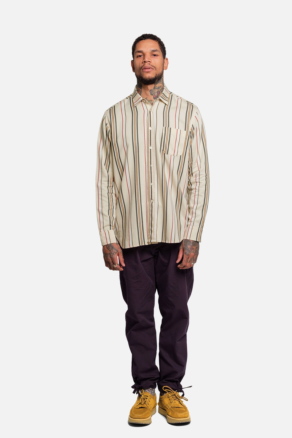 1905 SHIRT IN NEUTRAL / RED STRIPE - Fortune Goods