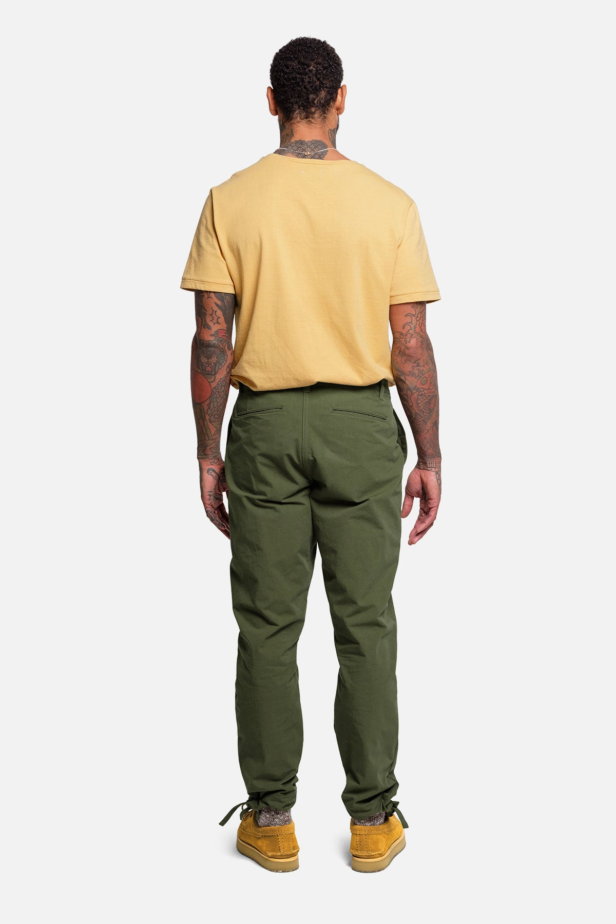 DRAWSTRING PANT IN MOSS RIPSTOP - Fortune Goods