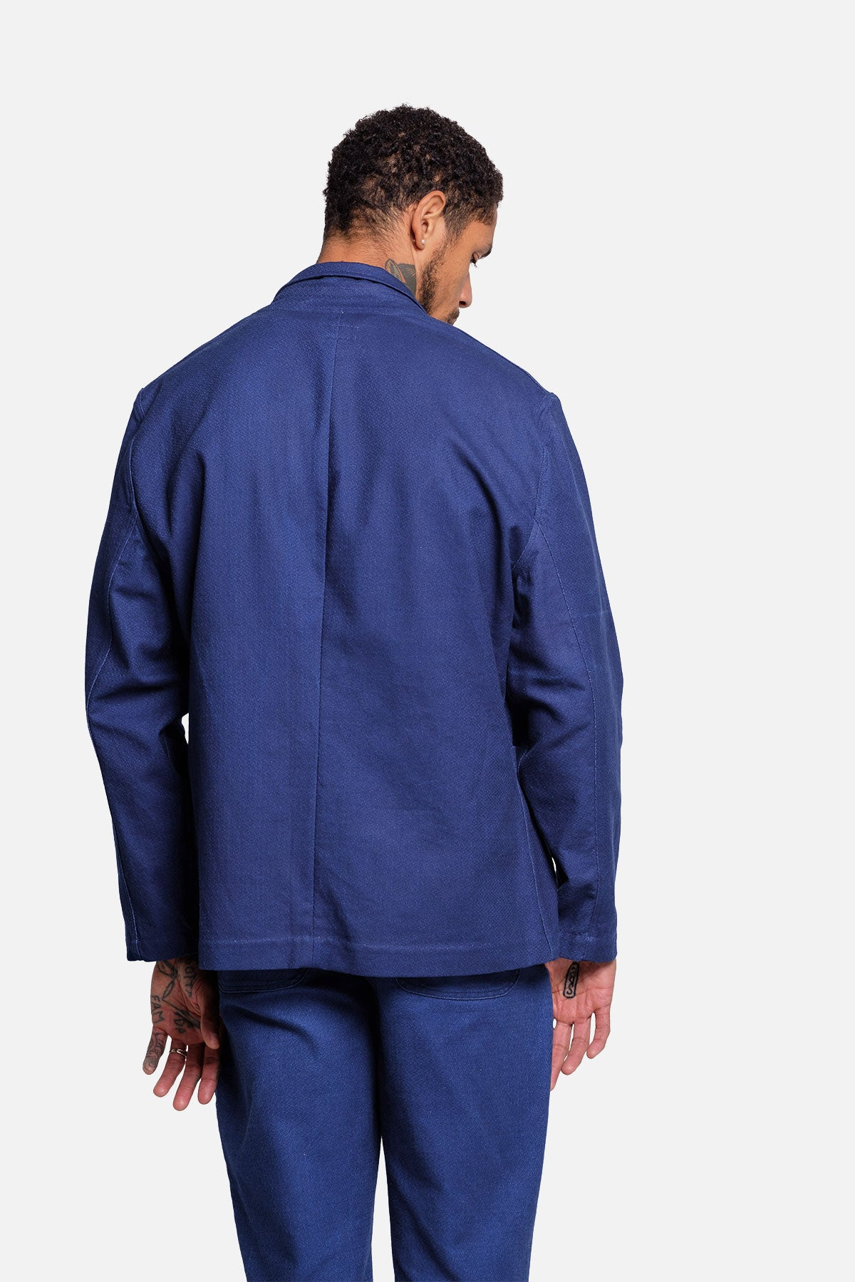 CASS JACKET IN INDIGO MELON CLOTH - Fortune Goods