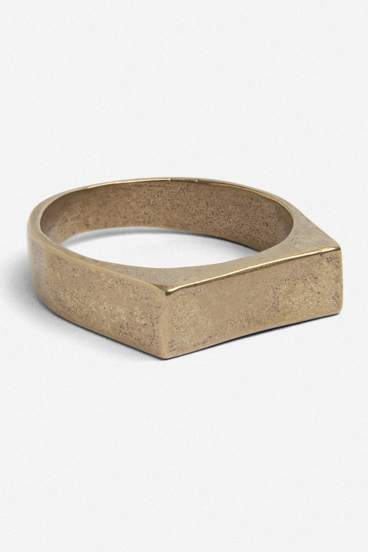 SIGNET BAR RING IN GOLD BRONZE - Fortune Goods