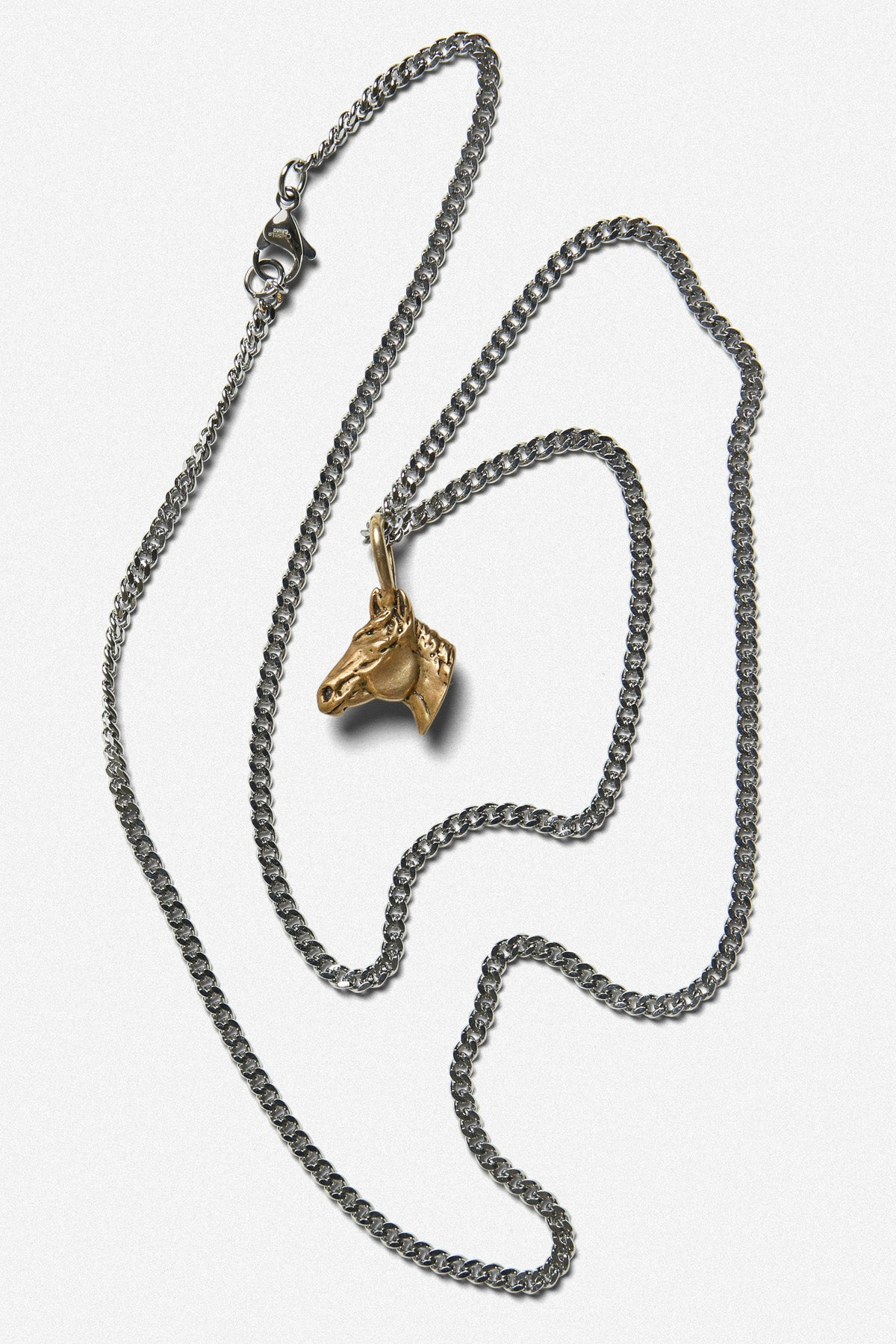 HORSE CHARM NECKLACE IN GOLD BRONZE - Fortune Goods