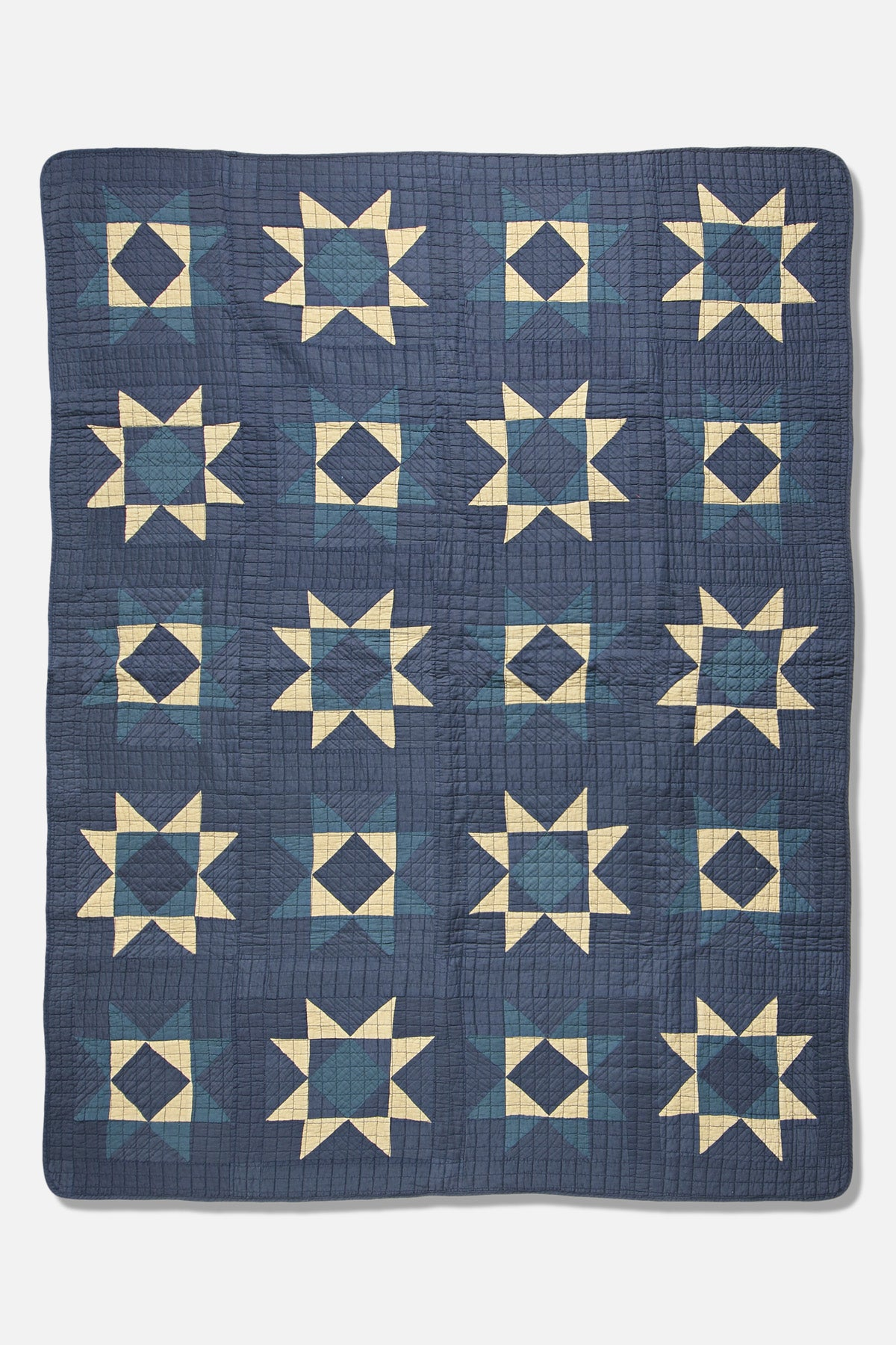 BasShu Patchwork Quilt in Blue - Fortune Goods