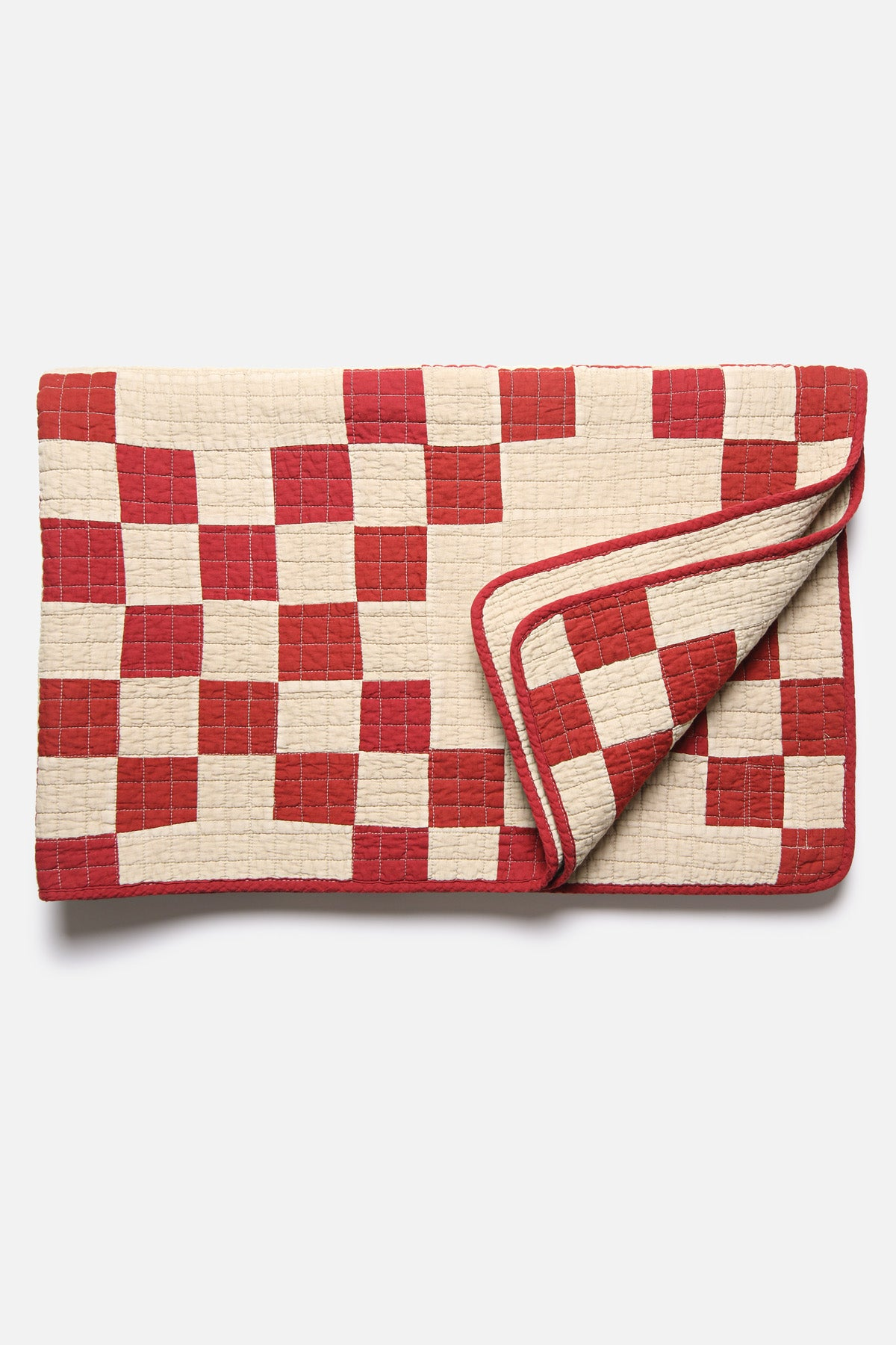 BasShu Patchwork Quilt in Red - Fortune Goods