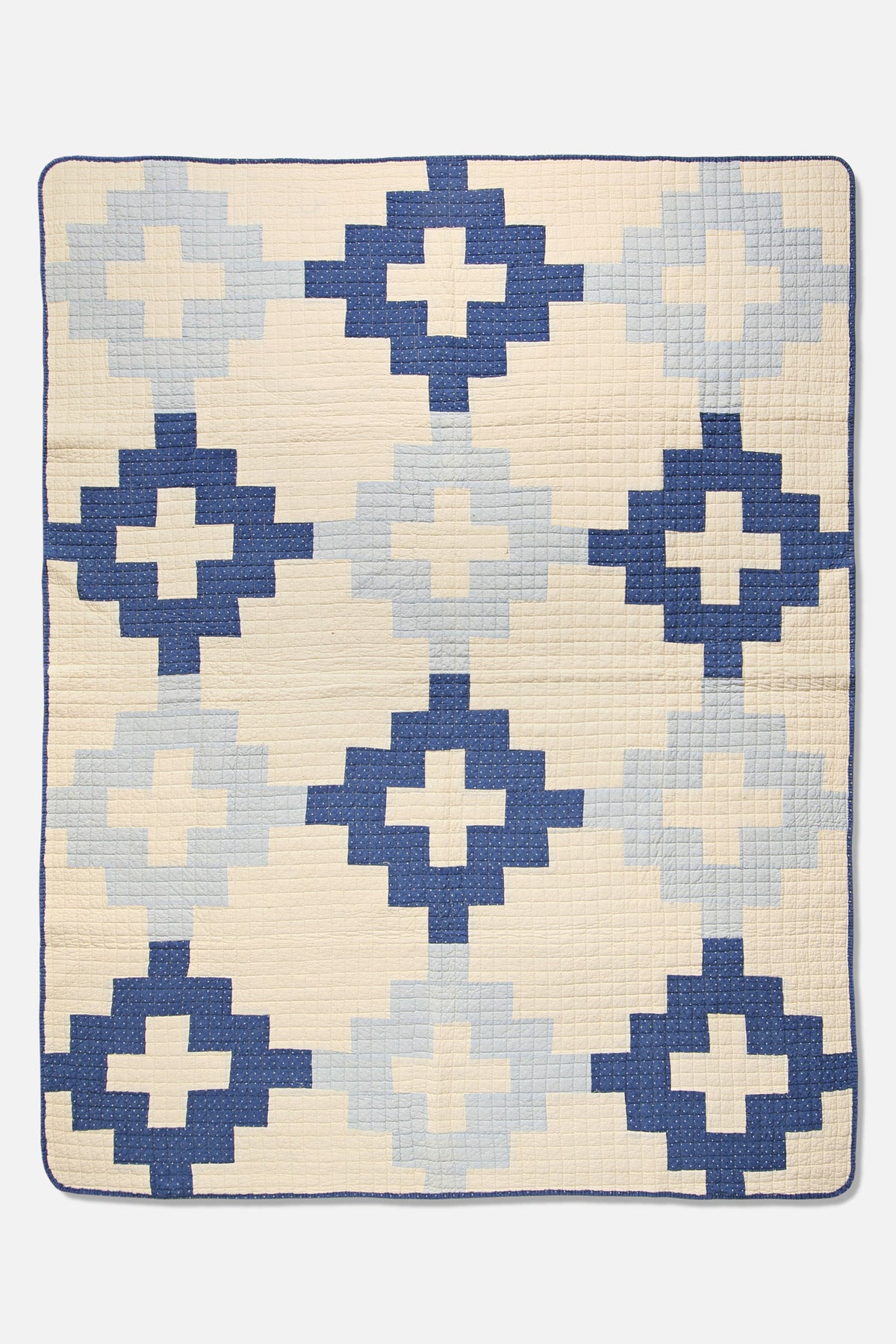 BasShu Patchwork Quilt in Indigo - Fortune Goods