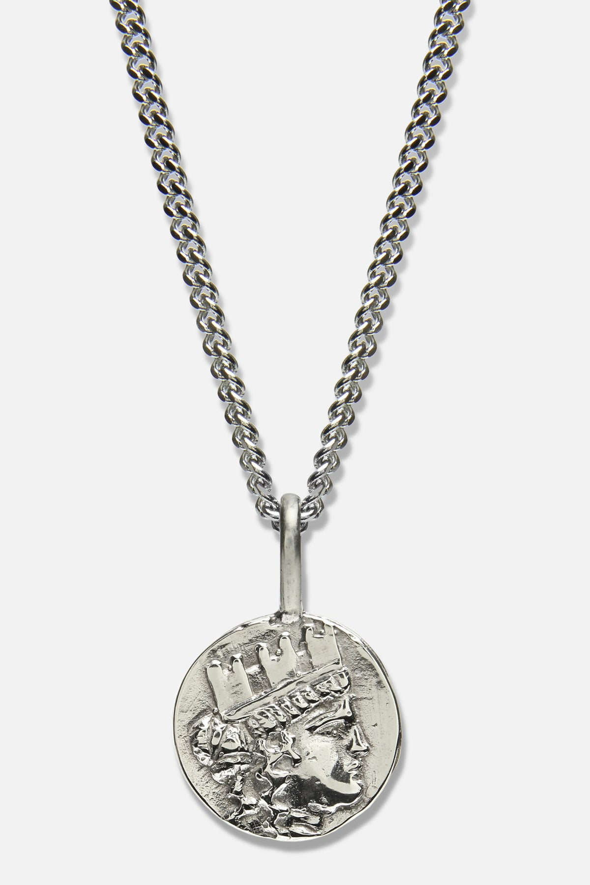 GODDESS OF FORTUNE CHARM NECKLACE IN WHITE BRONZE - Fortune Goods