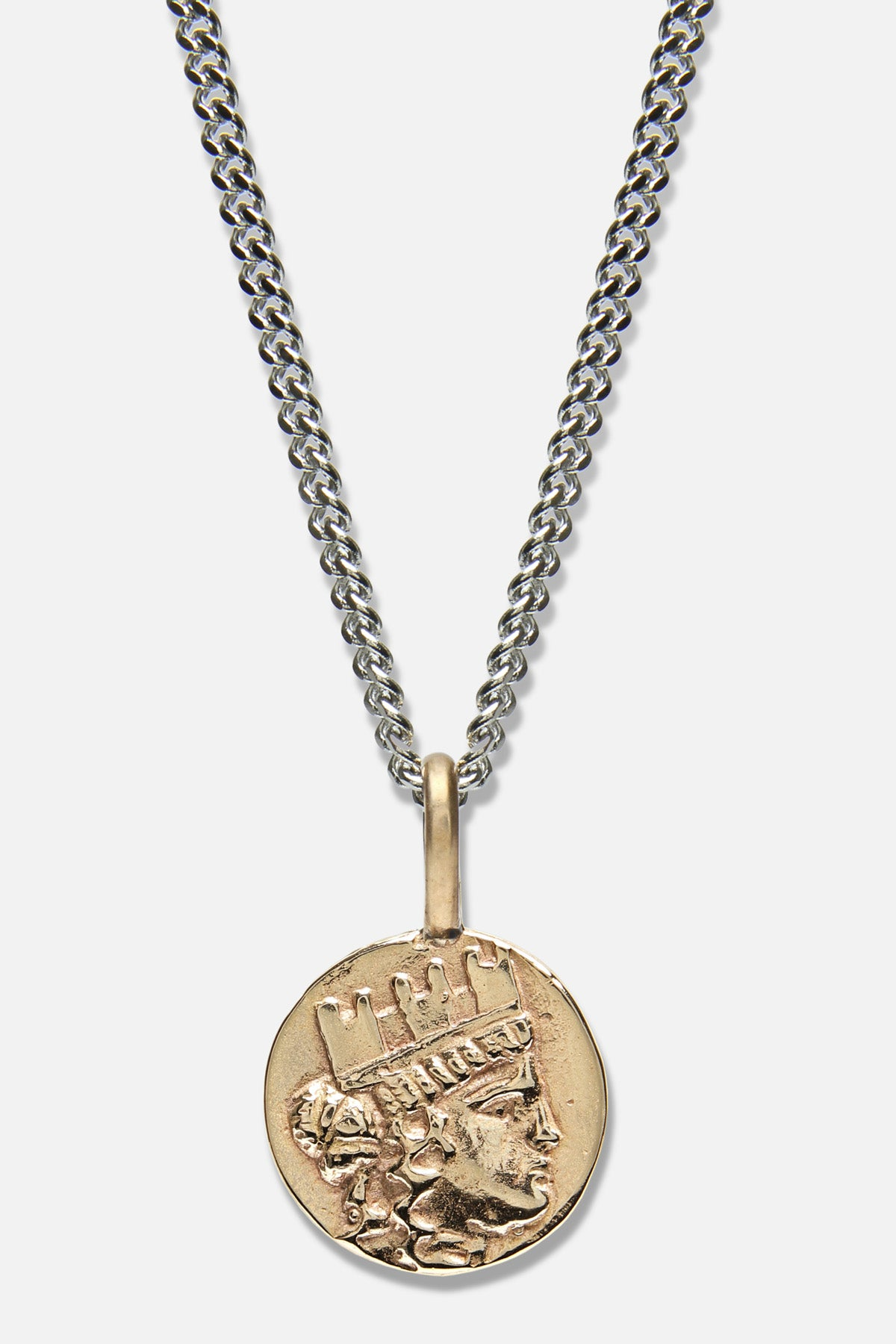 GODDESS OF FORTUNE CHARM NECKLACE IN GOLD BRONZE - Fortune Goods
