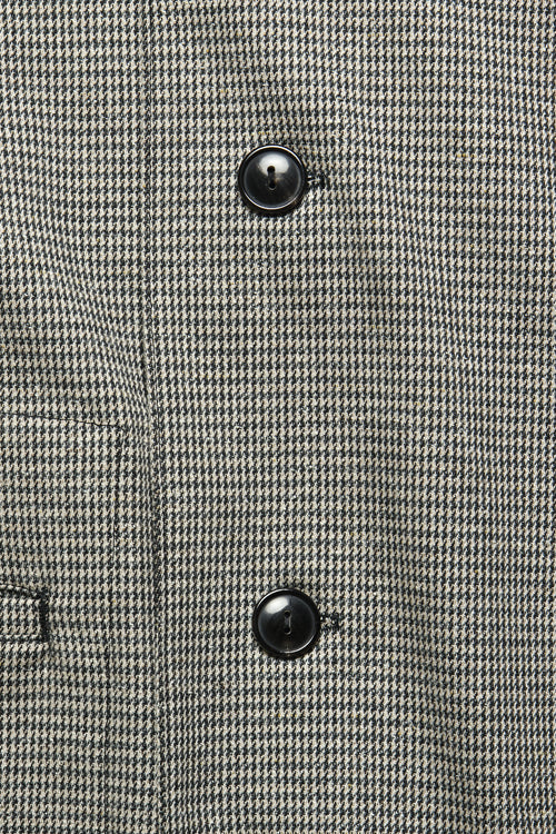SPRING OVERCOAT IN BLUE / KHAKI HOUNDSTOOTH - Fortune Goods