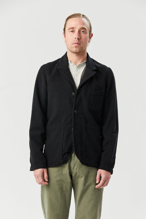 CASS JACKET IN BLACK MOLESKIN - Fortune Goods
