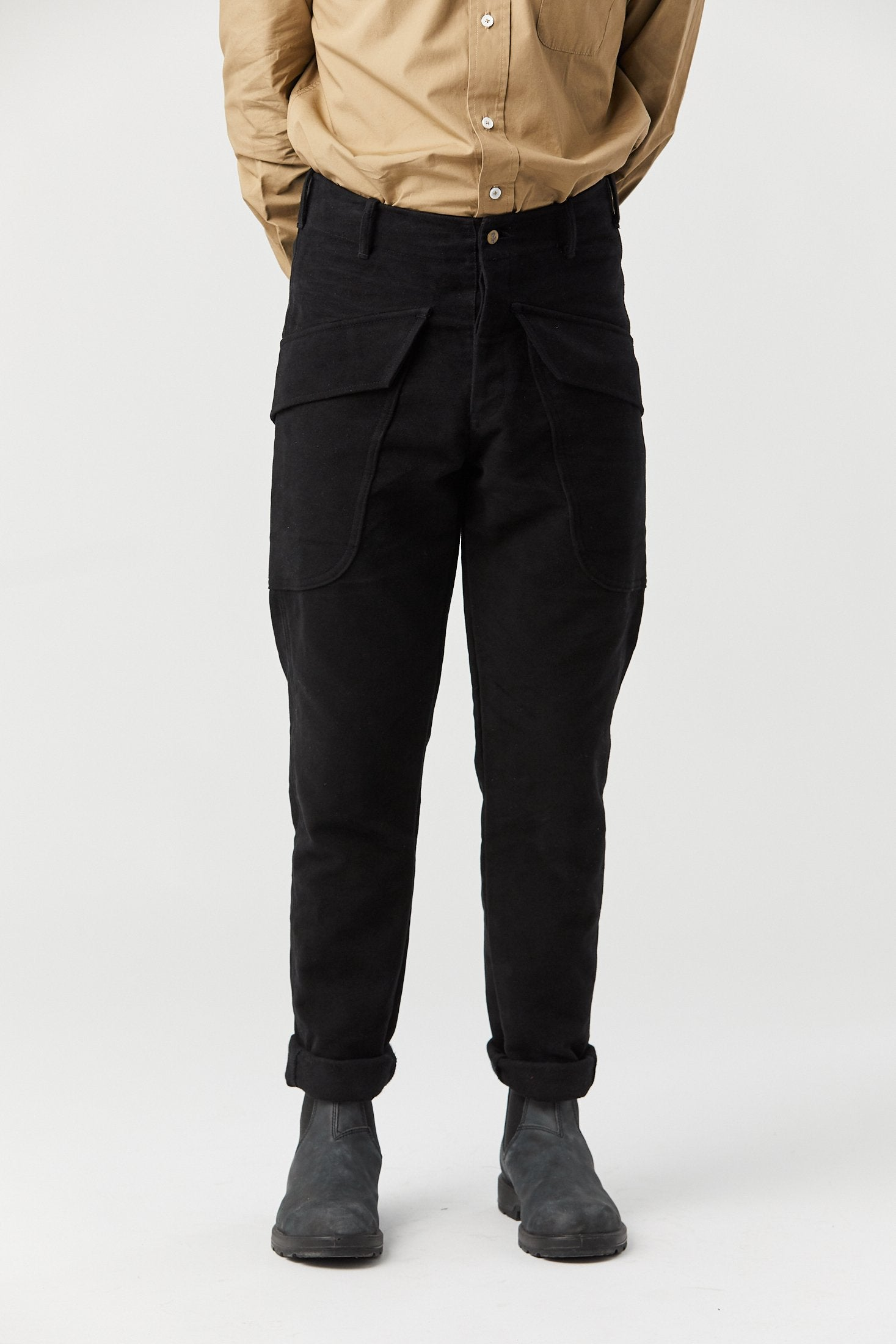 LODGE CARGO PANT IN BLACK - Fortune Goods