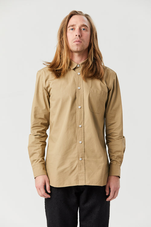 TYPEWRITER SHIRT IN TAUPE - Fortune Goods
