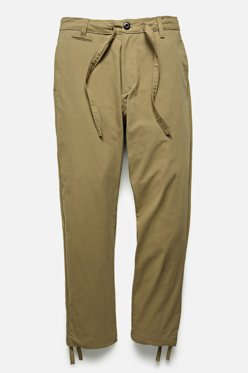 DRAWSTRING PANT IN KHAKI RIPSTOP - Fortune Goods