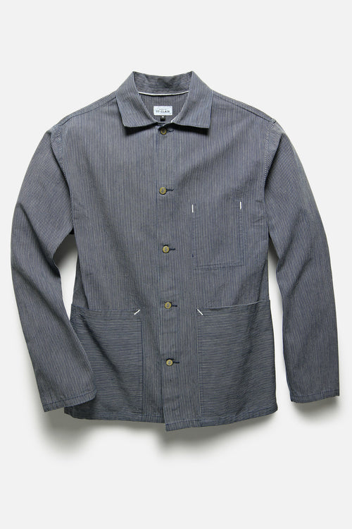 STATION JACKET IN SELVEDGE STRIPE - Fortune Goods