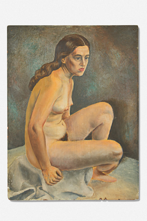 VINTAGE NUDE PORTRAIT PAINTING - Fortune Goods