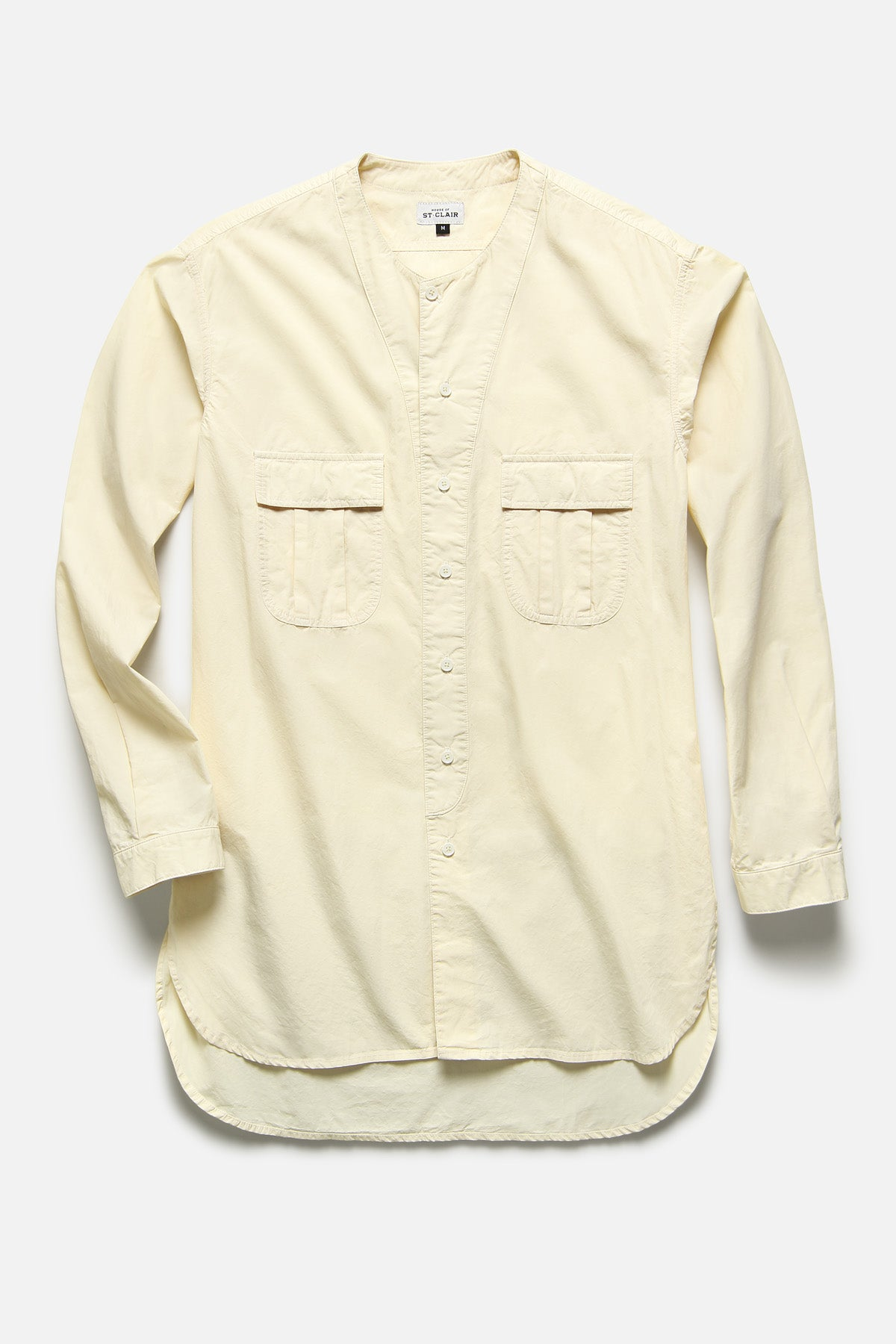BUTTON DOWN TUNIC IN IVORY TYPEWRITER - Fortune Goods