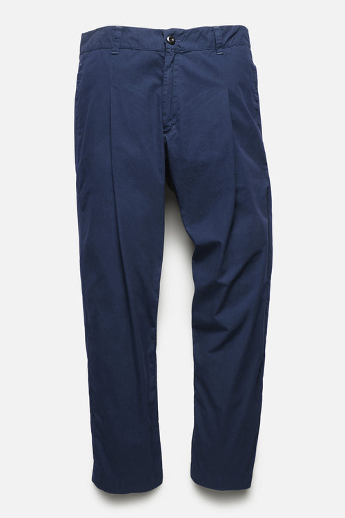 SINGLE PLEAT TROUSER IN BLUE TYPEWRITER - Fortune Goods