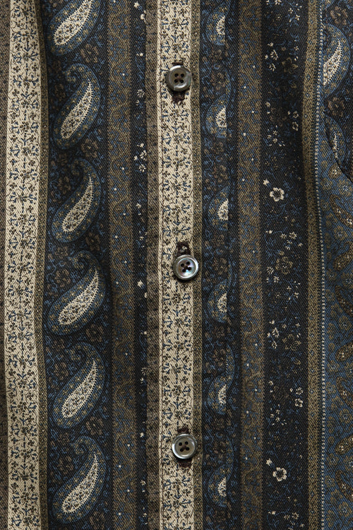 CHICON SHIRT IN PAISLEY STRIPE - Fortune Goods