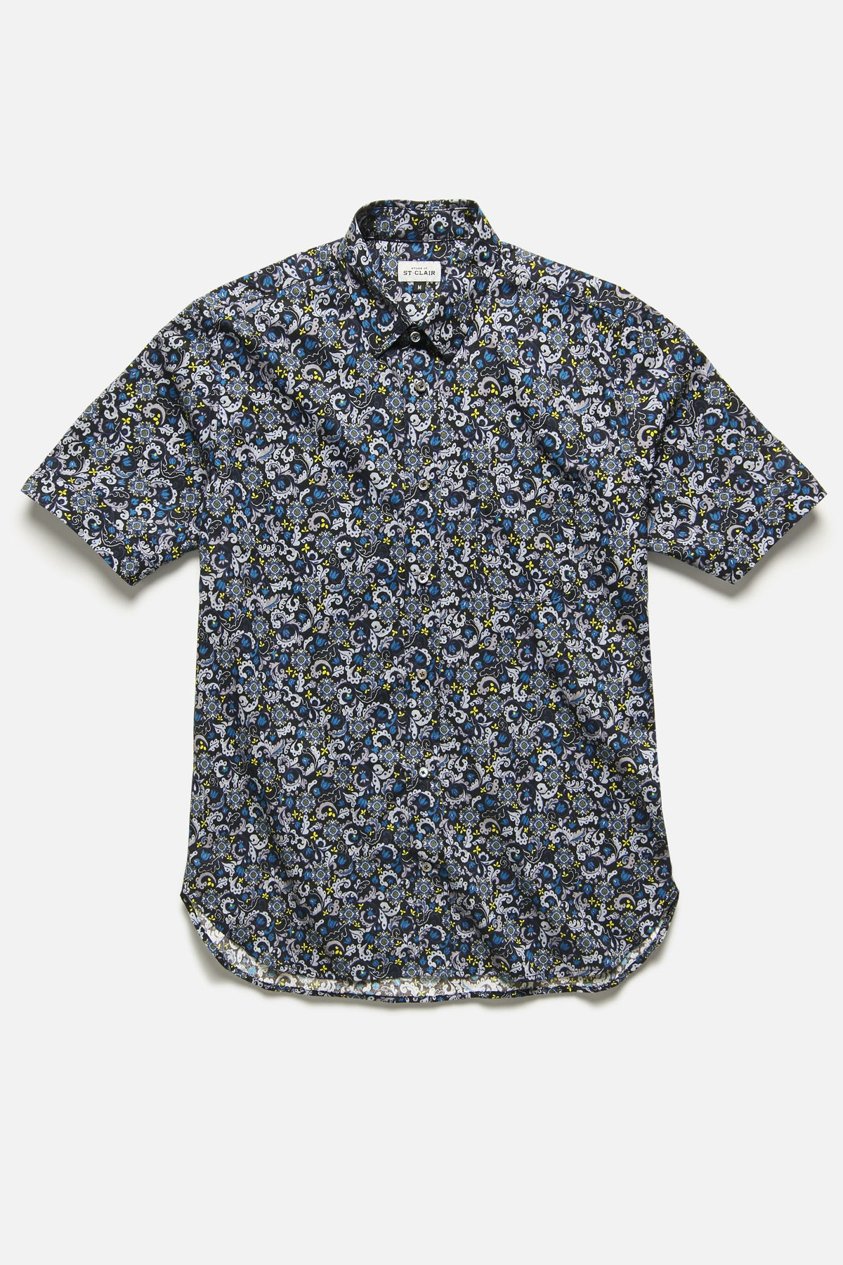 CHICON SHIRT IN BLUE/BLACK FLORAL - Fortune Goods