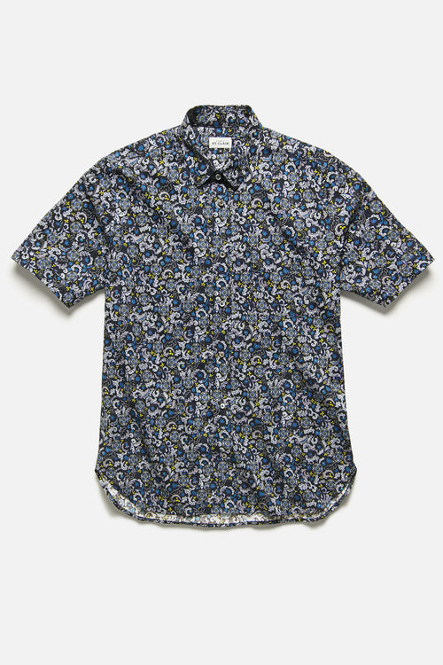 CHICON SHIRT IN BLACK FLORAL - Fortune Goods