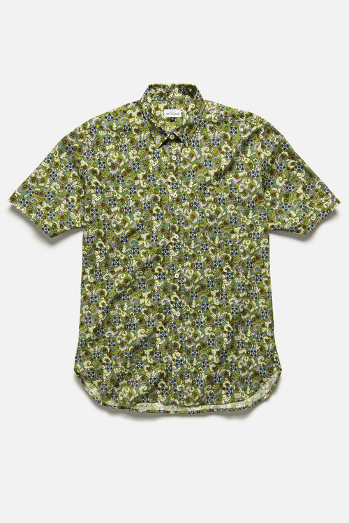 CHICON SHIRT IN OLIVE FLORAL - Fortune Goods