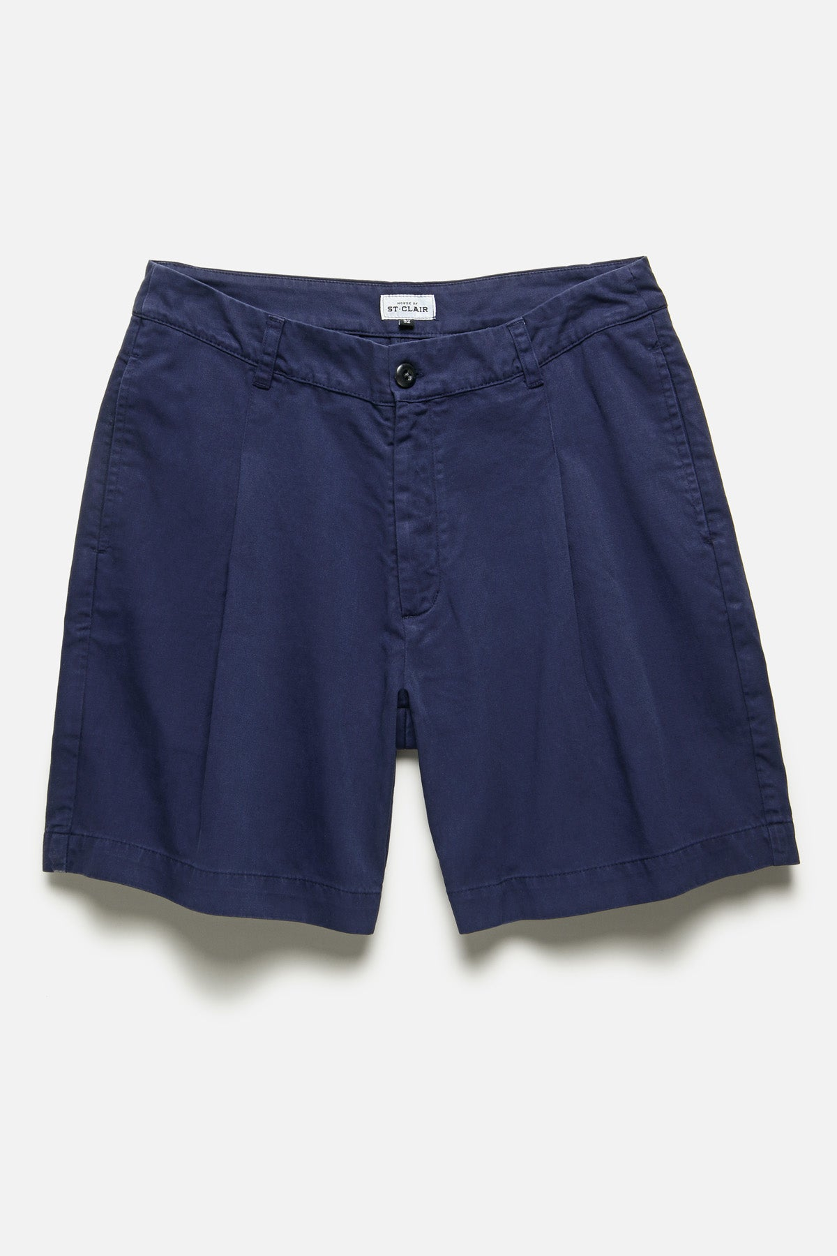 SINGLE PLEAT SHORT IN BLUE - Fortune Goods