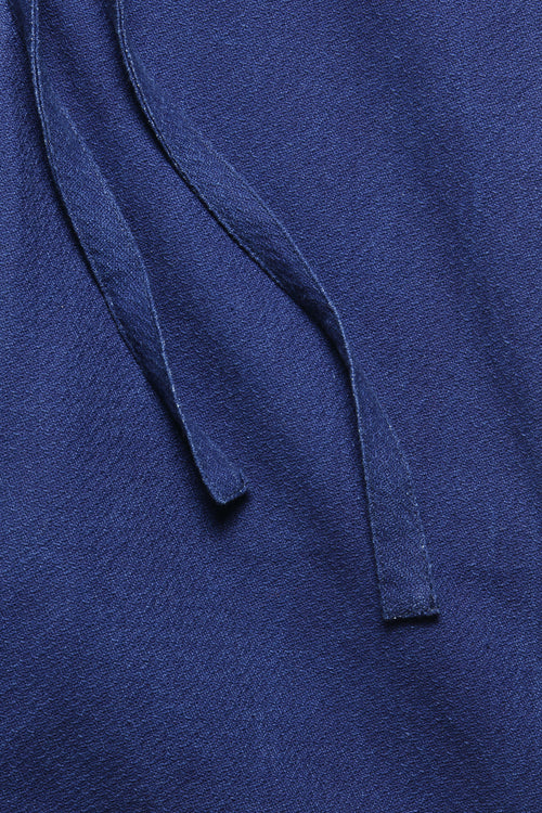 DRAWSTRING SHORT IN INDIGO MELON CLOTH - Fortune Goods