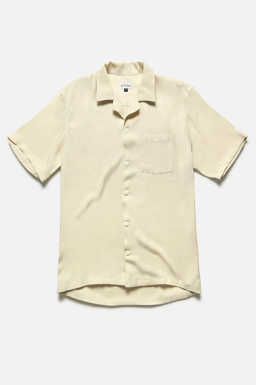 CUBA SHIRT IN IVORY RAYON - Fortune Goods