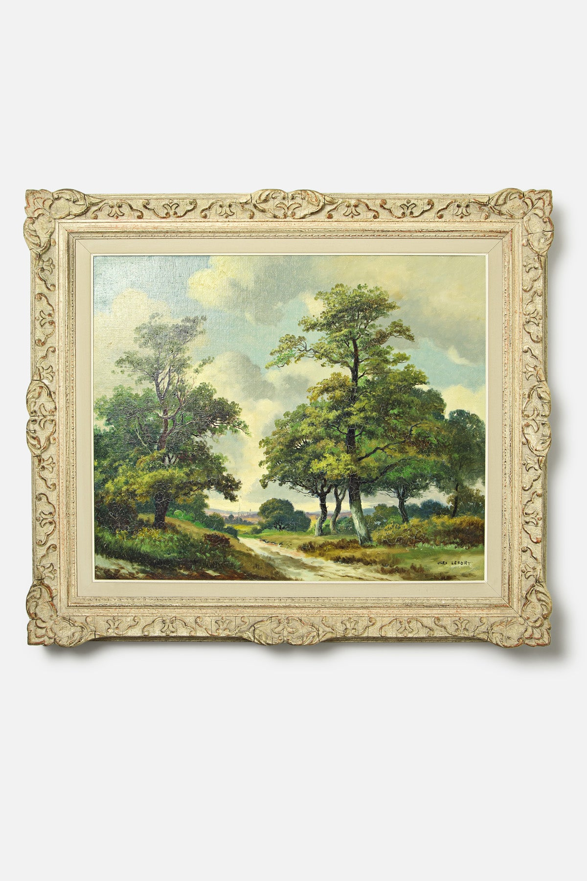 VINTAGE - FRENCH LANDSCAPE OIL PAINTING - ALEX LEFORT - Fortune Goods