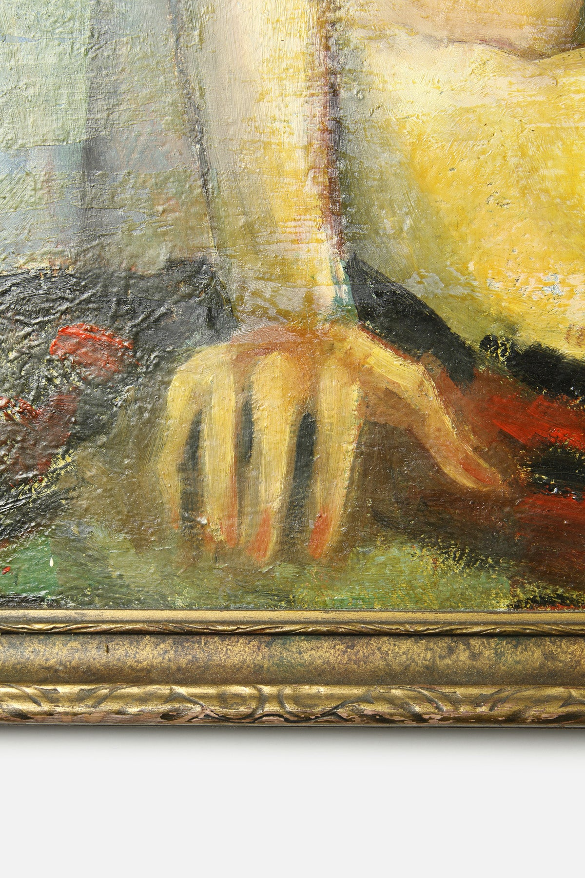VINTAGE SEATED NUDE OIL PAINTING - ZEIGLER - Fortune Goods