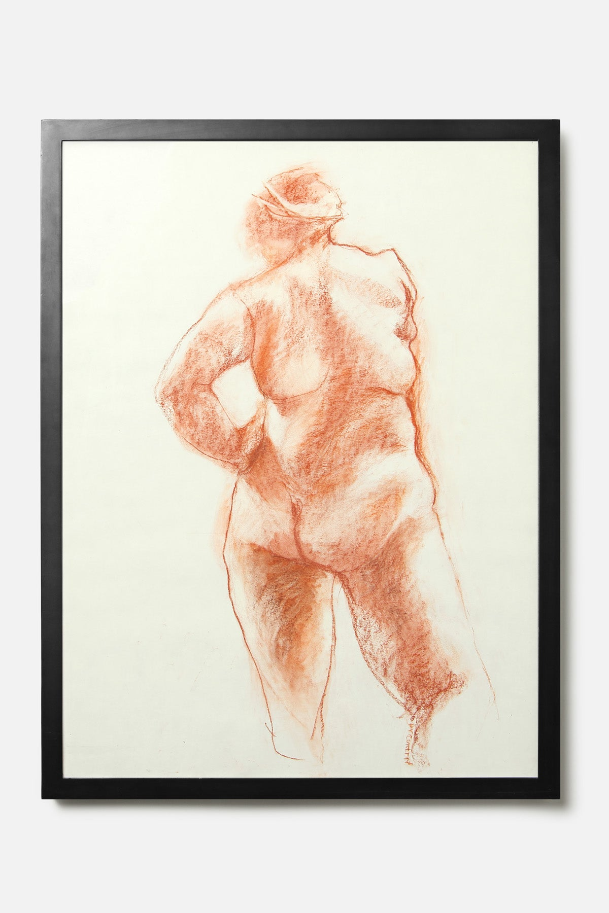 VINTAGE RED CHALK FEMALE NUDE - Fortune Goods