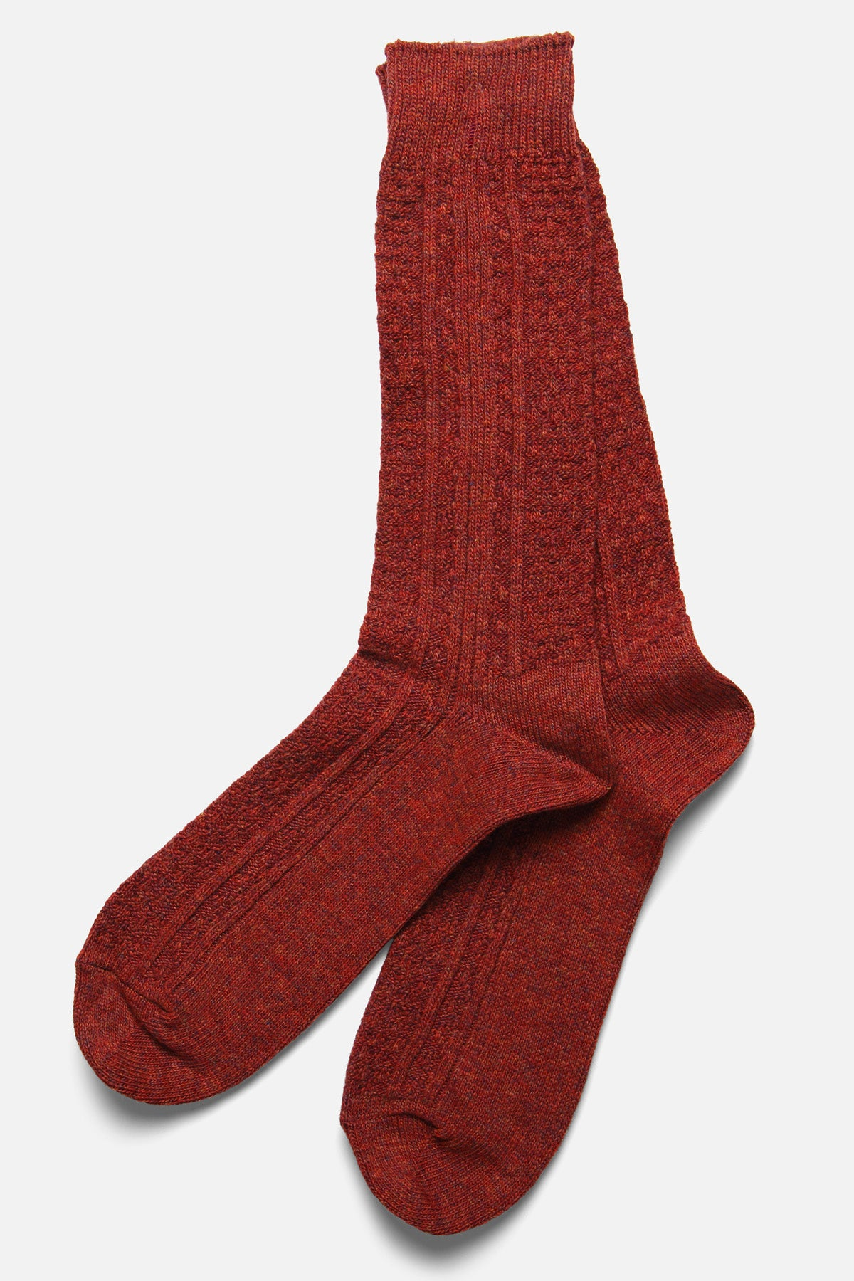 ANONYMOUS ISM - CASHMERE WOOL LINK CREW IN RED - Fortune Goods