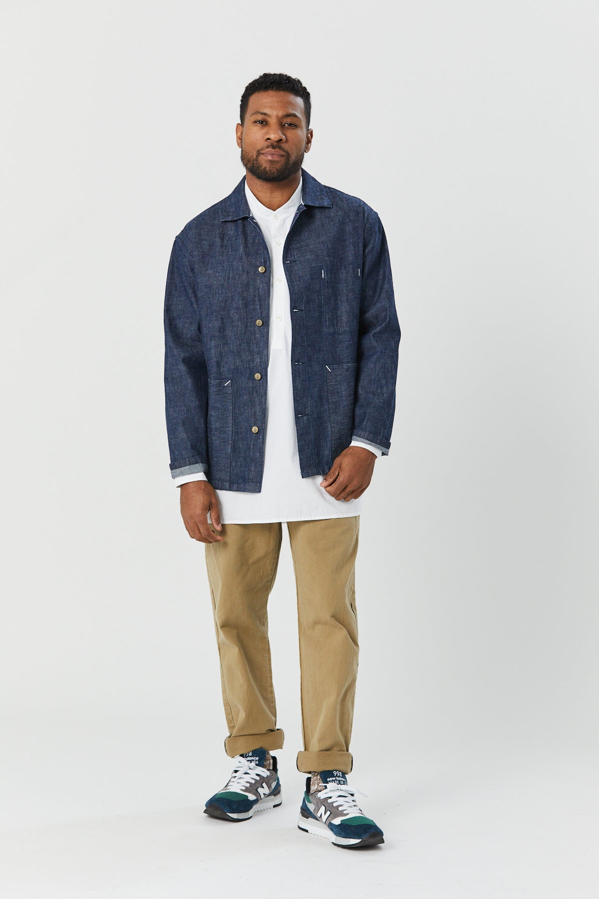 STATION JACKET IN INDIGO - Fortune Goods