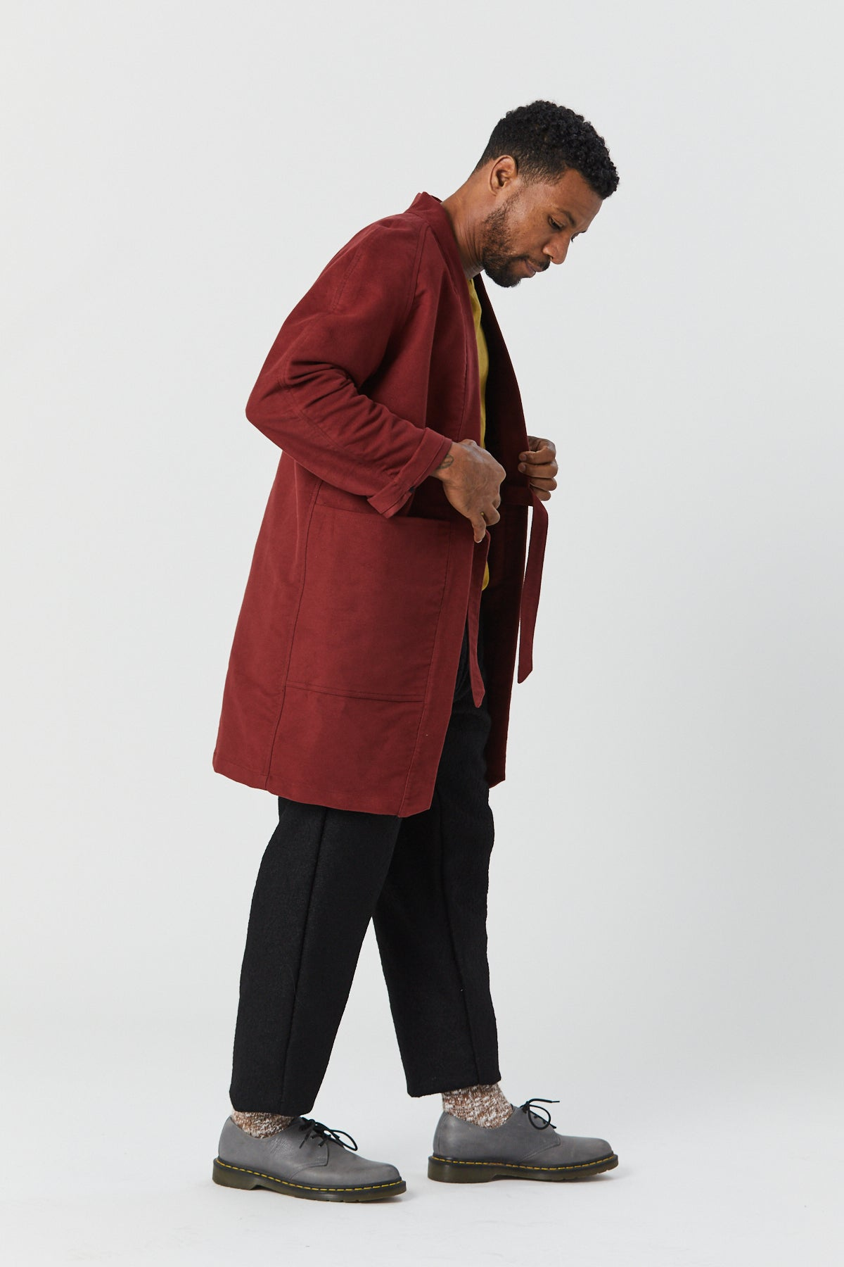 WEST VILLAGE ROBE IN BRICK - Fortune Goods