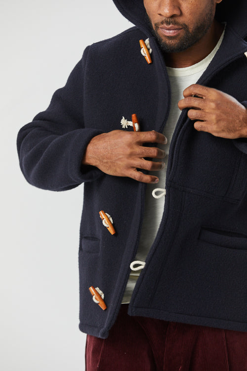 BELLE ISLE TOGGLE COAT IN NAVY - Fortune Goods