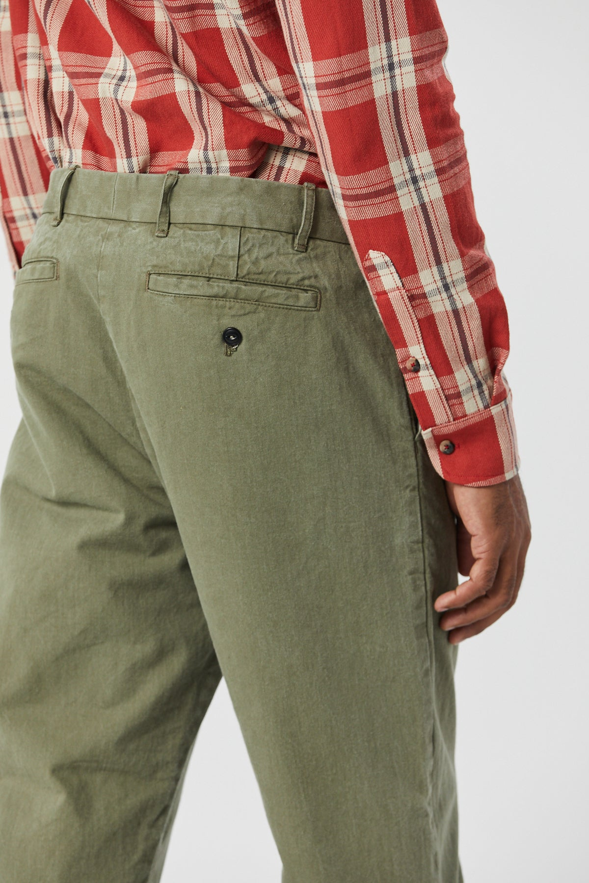 BRIGGS TROUSER IN SAGE - Fortune Goods