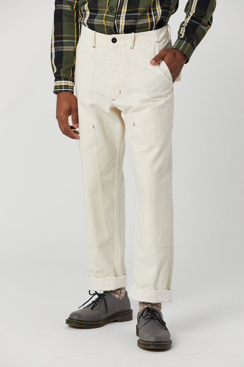 PLANT DOUBLE KNEE PANT IN PEARL - Fortune Goods